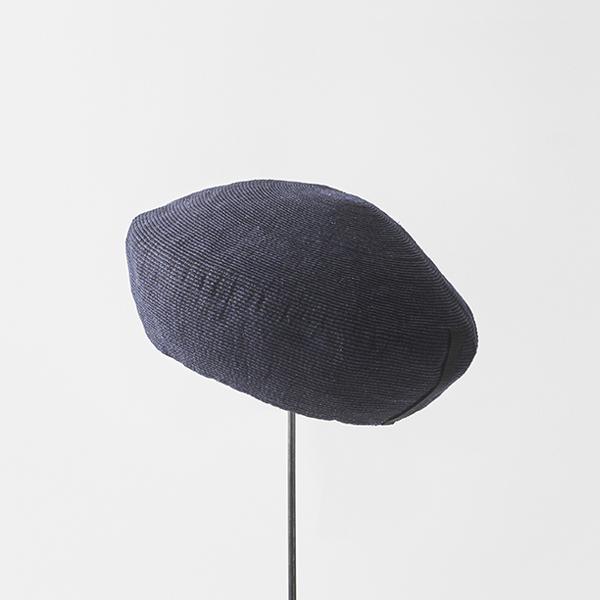 paper linen braid denim beret big