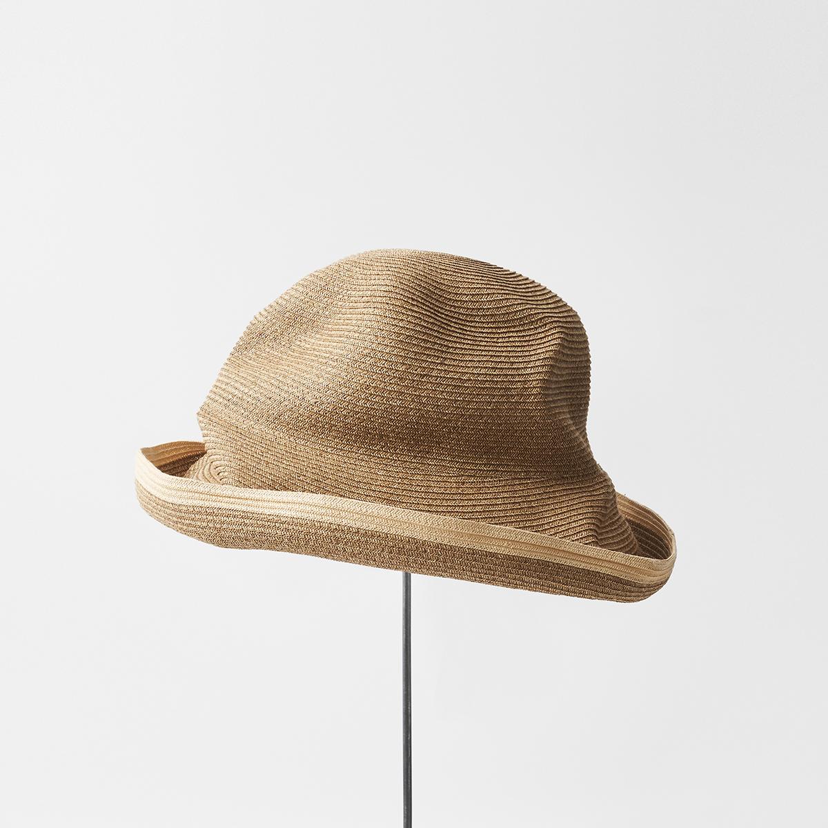 BOXED HAT 11cm brim switch color line edge