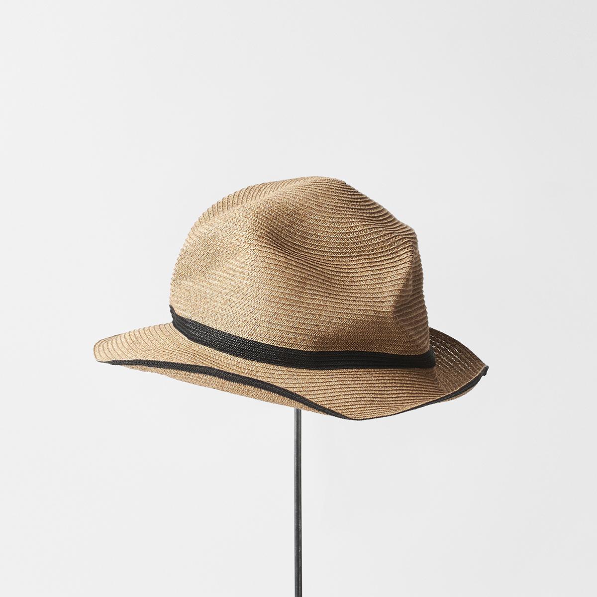 BOXED HAT 6.5cm brim switch color line