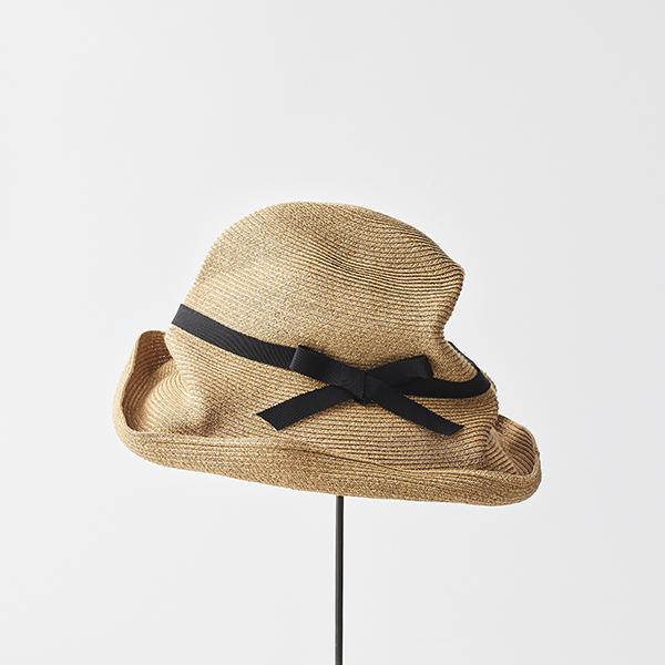 BOXED HAT 11cm brim grosgrain ribbon