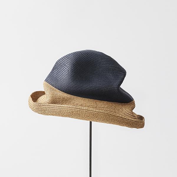 BOXED HAT 11cm brim 2tone color