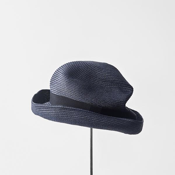 BOXED HAT 8cm brim grosgrain ribbon