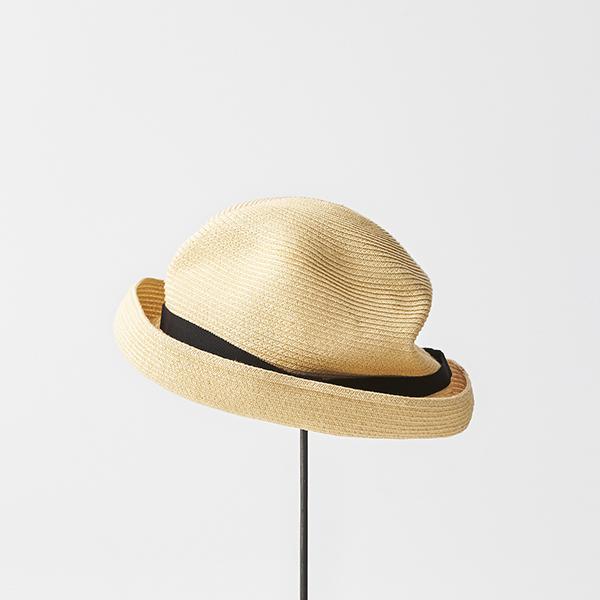 BOXED HAT 7cm brim grosgrain ribbon