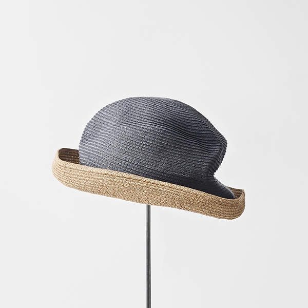 BOXED HAT 7cm brim 2tone color