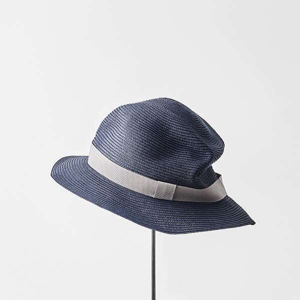 BOXED HAT 5.5cm brim grosgrain ribbon