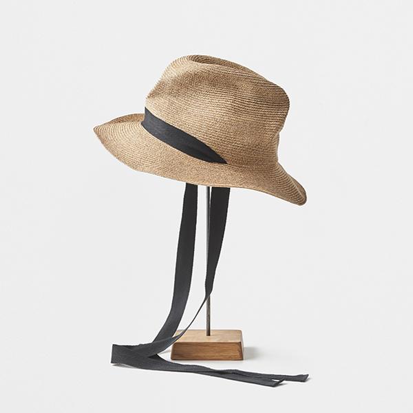 BOXED HAT 7cm brim garden ribbon