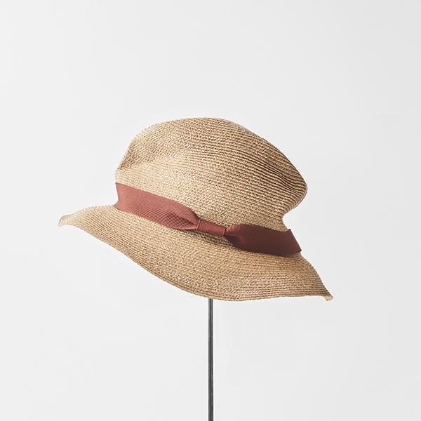 BOXED HAT abaca 6cm brim