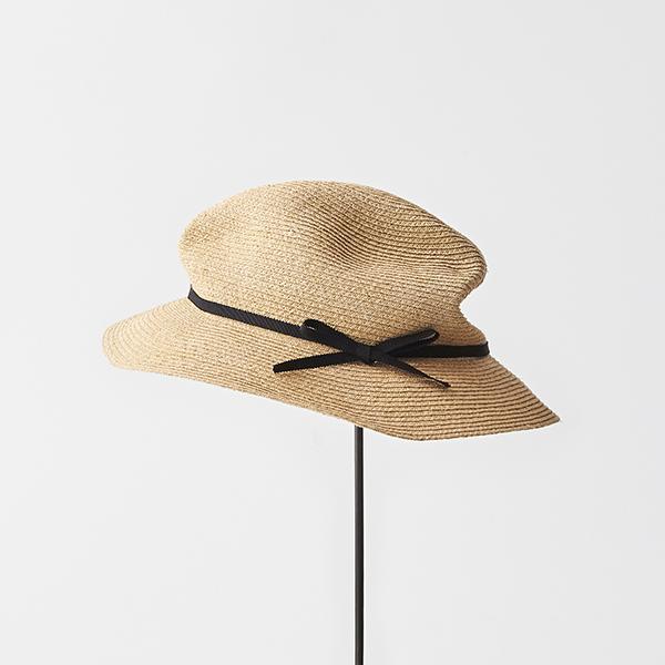 BOXED HAT raffia 6cm brim