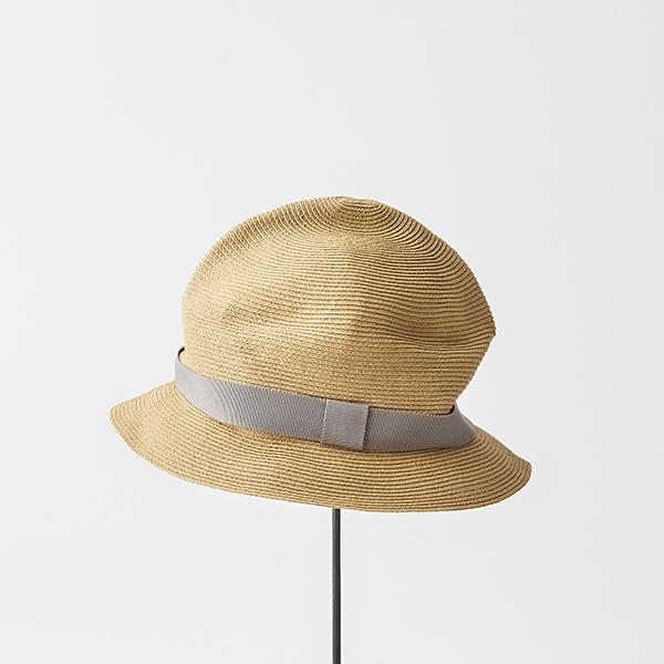 BOXED HAT 4.5cm brim grosgrain ribbon
