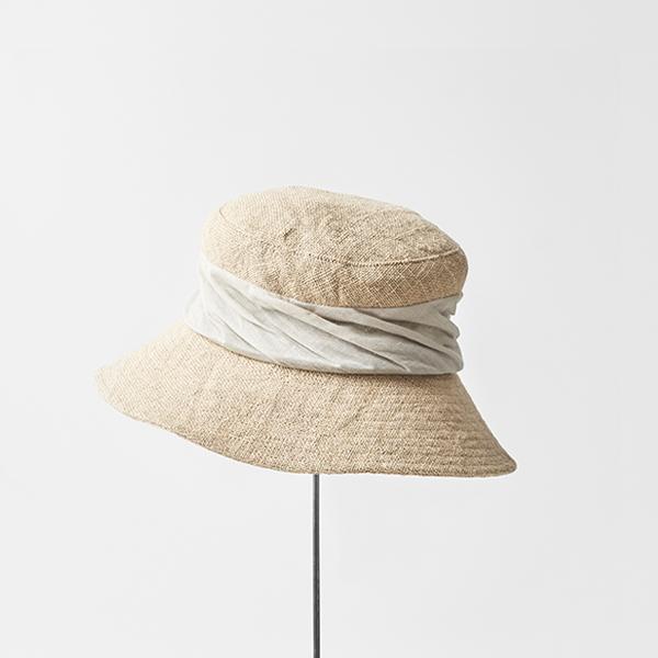 jute drape hat wide