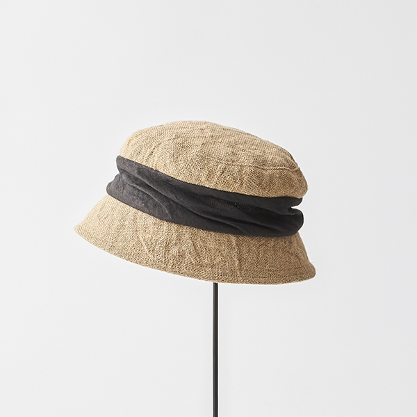 jute drape hat short