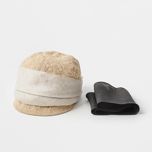 jute scarf cap