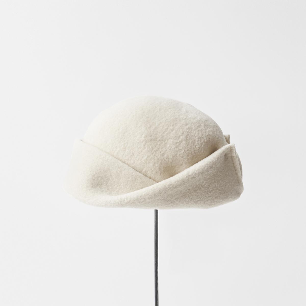 knit felt cap A