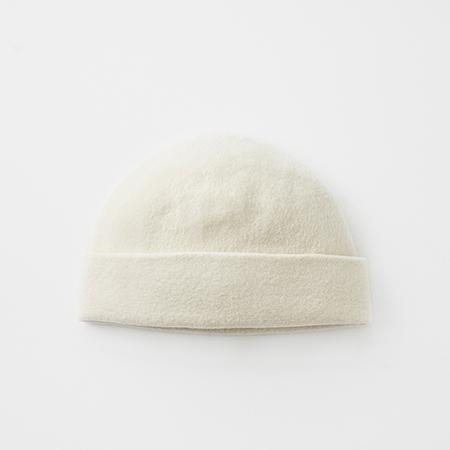 knit felt cap cashmere & lamb