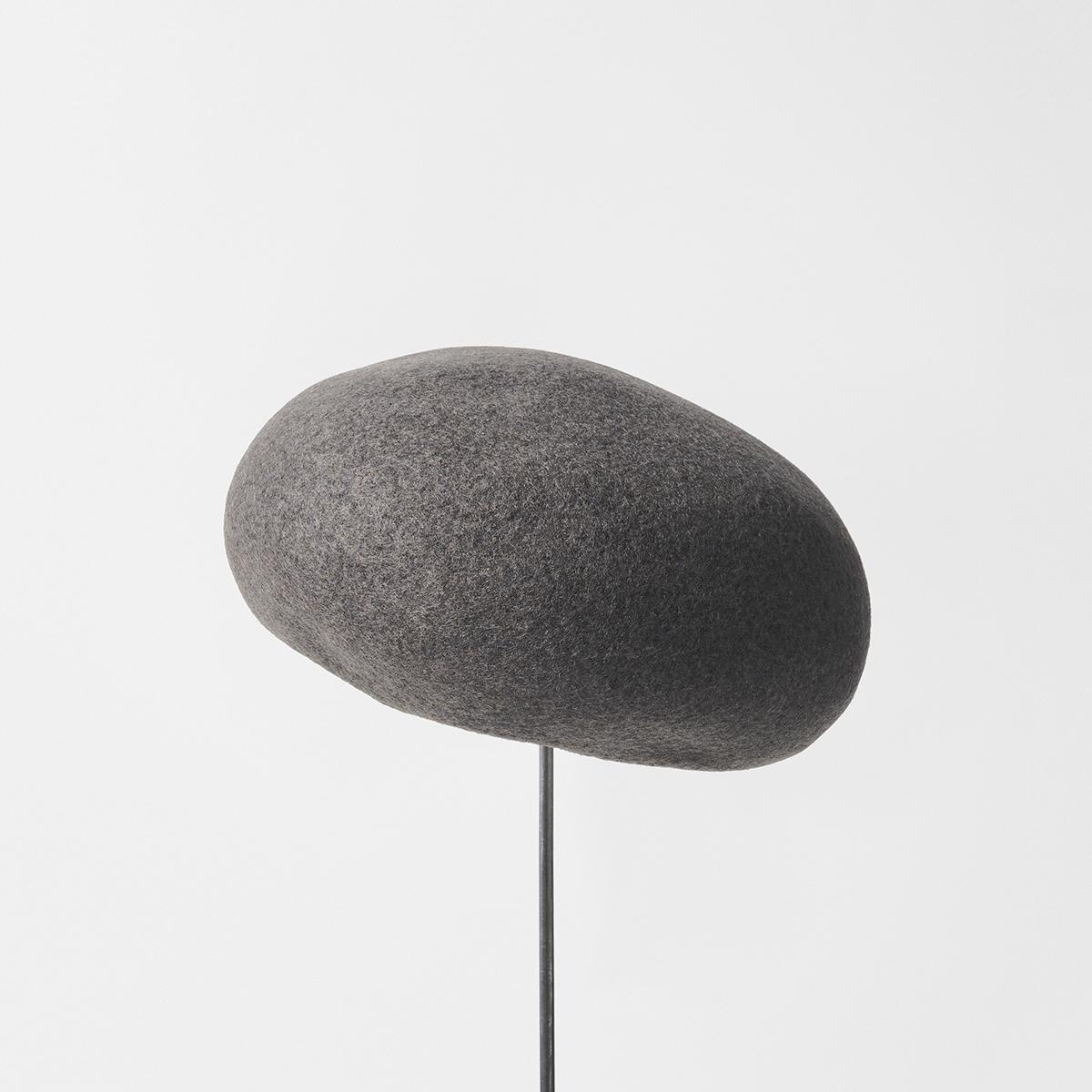 thin knit felt beret lamb