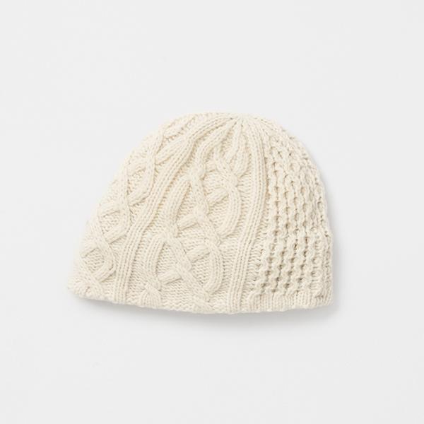 slant cutting knit cap aran2 lamb