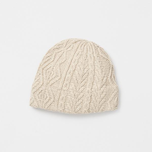 slant cutting knit cap aran3 lamb