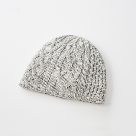 slant cutting knit cap british aran2