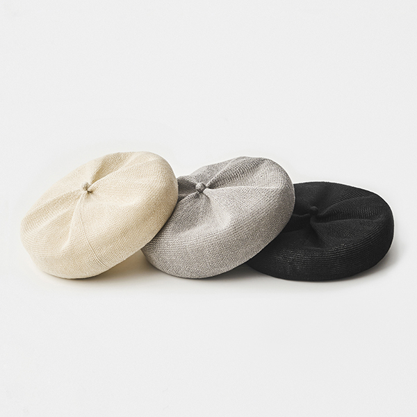 beret top gather linen