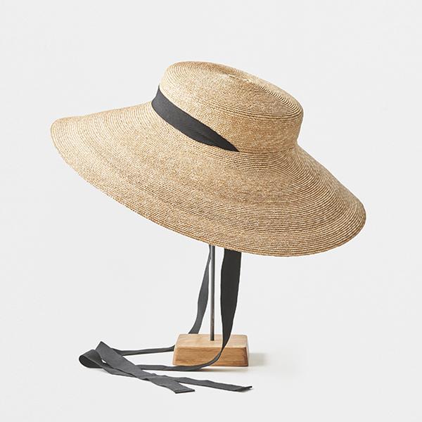 5mm braid straw hat wide