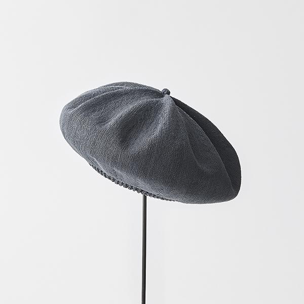 beret top gather big silk