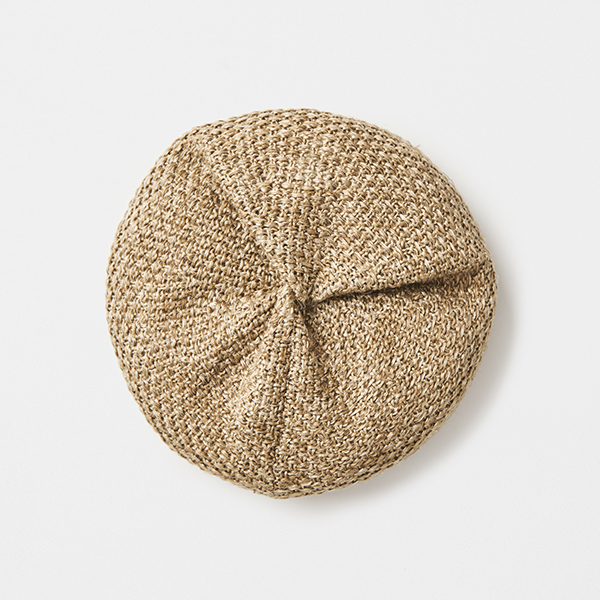 beret knitted linen big