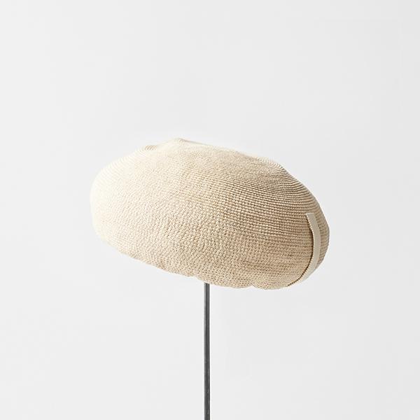 paper linen braid beret