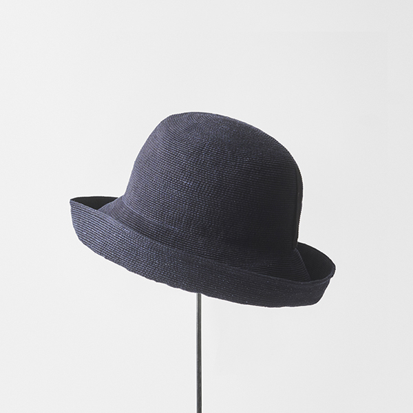 paper linen braid denim hat wide