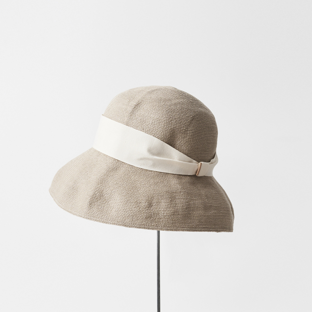 hemp linen braid hat wide