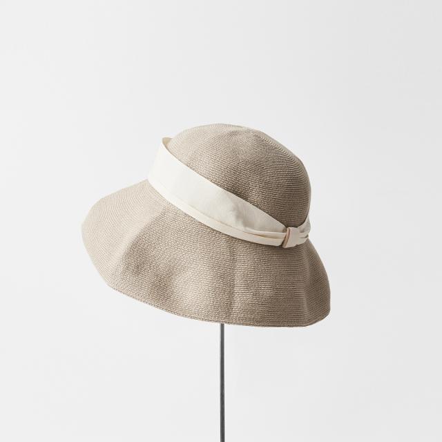 hemp linen braid hat low wide