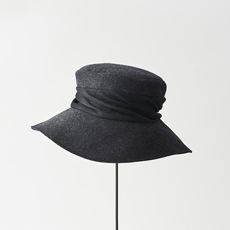 melton drape hat wide