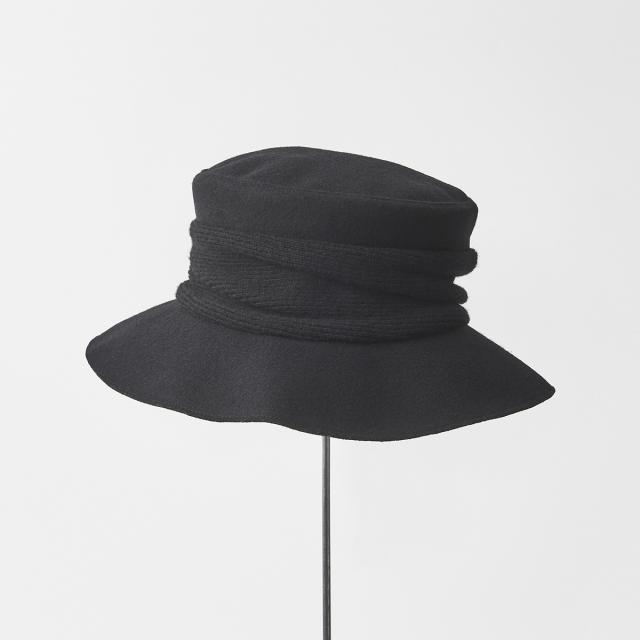 melton drape hat middle