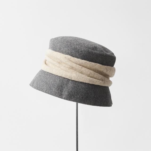 melton drape hat short