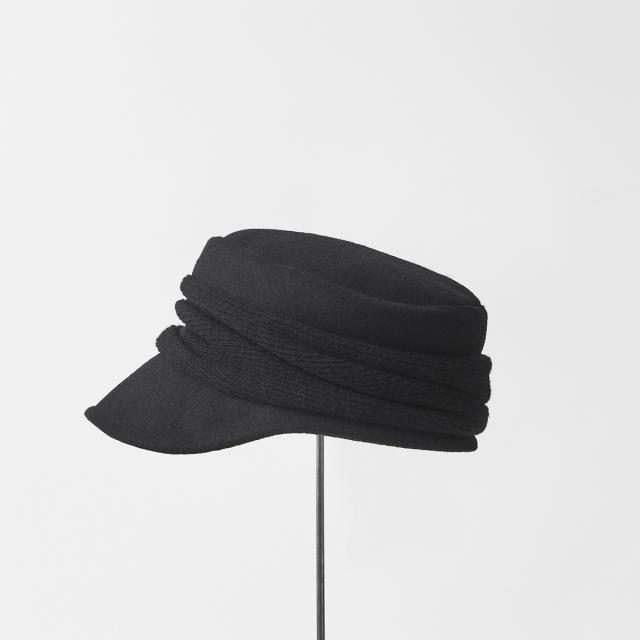 melton drape cap