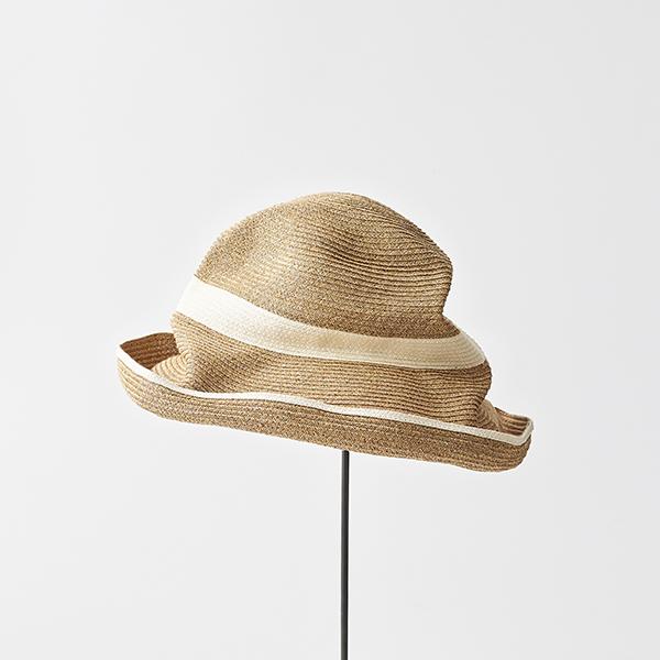 BOXED HAT 11cm brim switch color line wide