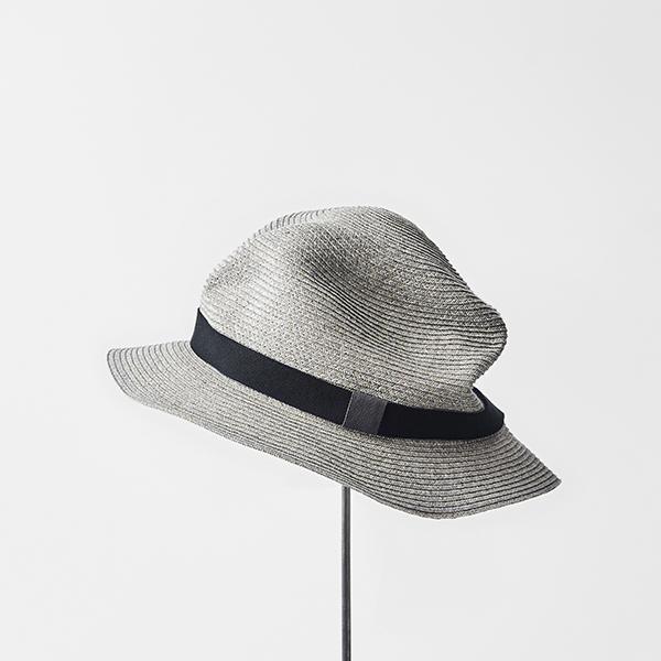 BOXED HAT 5.5cm brim color stitch plain tape