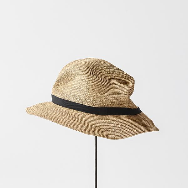 BOXED HAT 6.5cm brim grosgrain ribbon