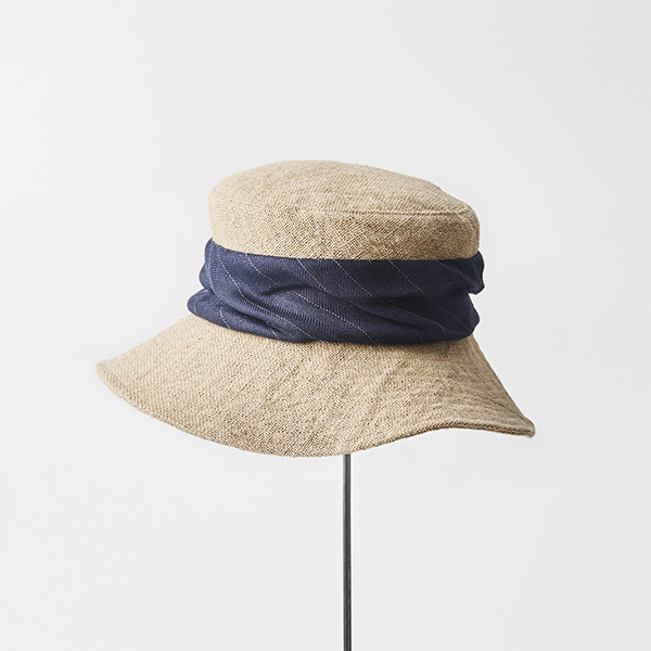 jute drape hat wide