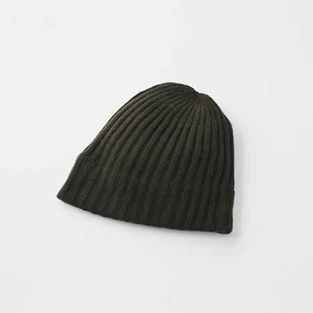 slant cutting knit cap cashmere100