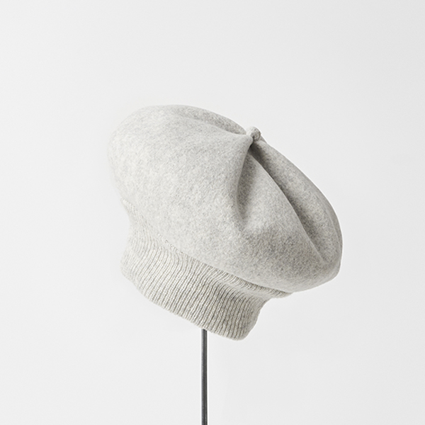 beret top gather long rib lamb