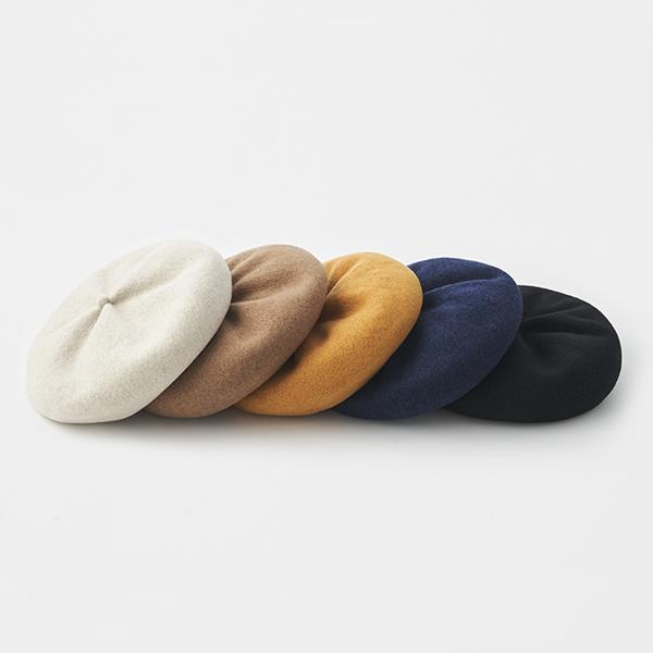 beret top gather rib lamb