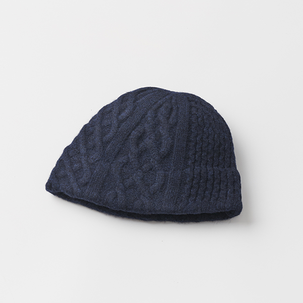slant cutting knit felt relief cap aran