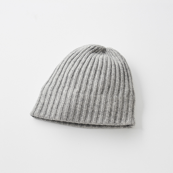 slant cutting knit cap lamb