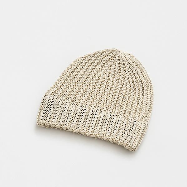slant cutting knit cap linen