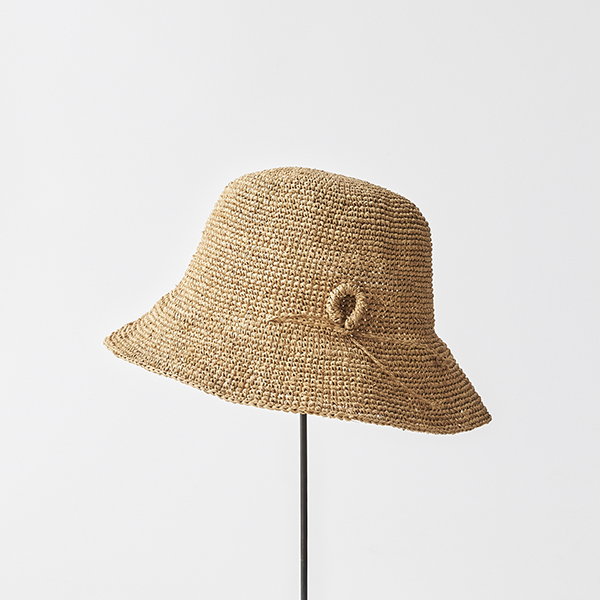 raffia hat short ornament