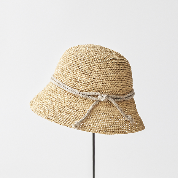 raffia hat short rope
