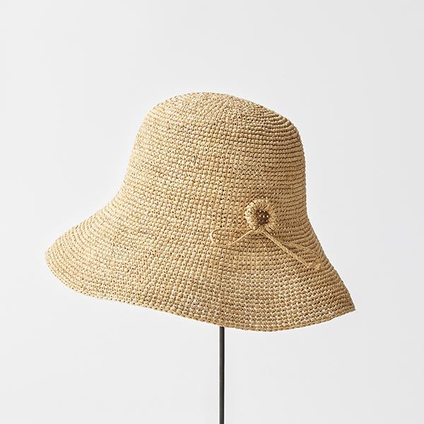 raffia hat wide ornament