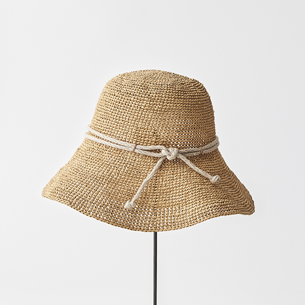 raffia hat wide rope
