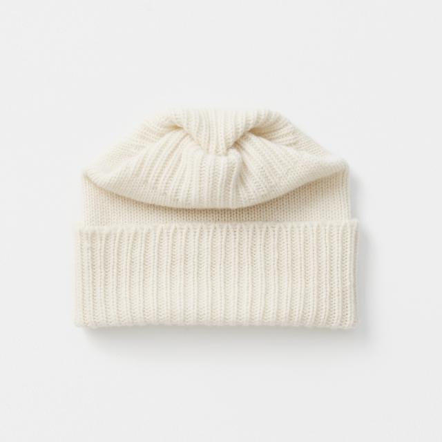 pleats knit cap cashmere