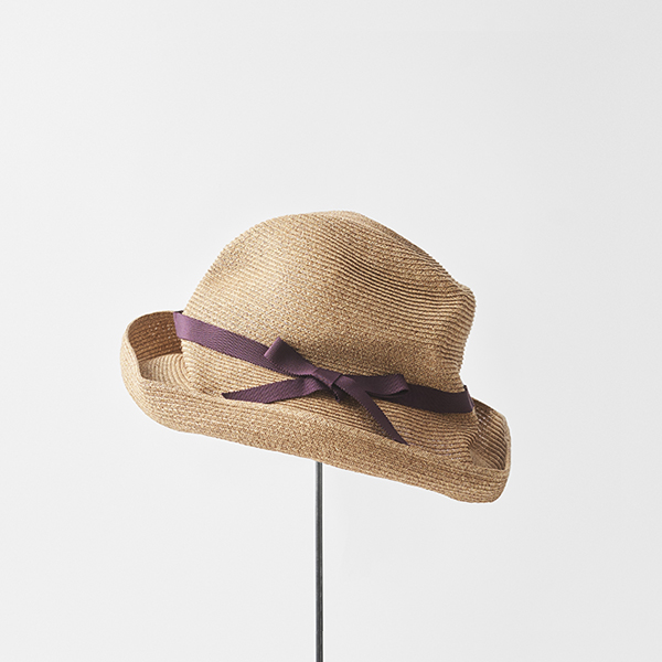 BOXED HAT 11cm brim grosgrain ribbon